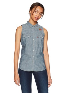 Levi's Women's Sleeveless Modern Sawtooth Shirt