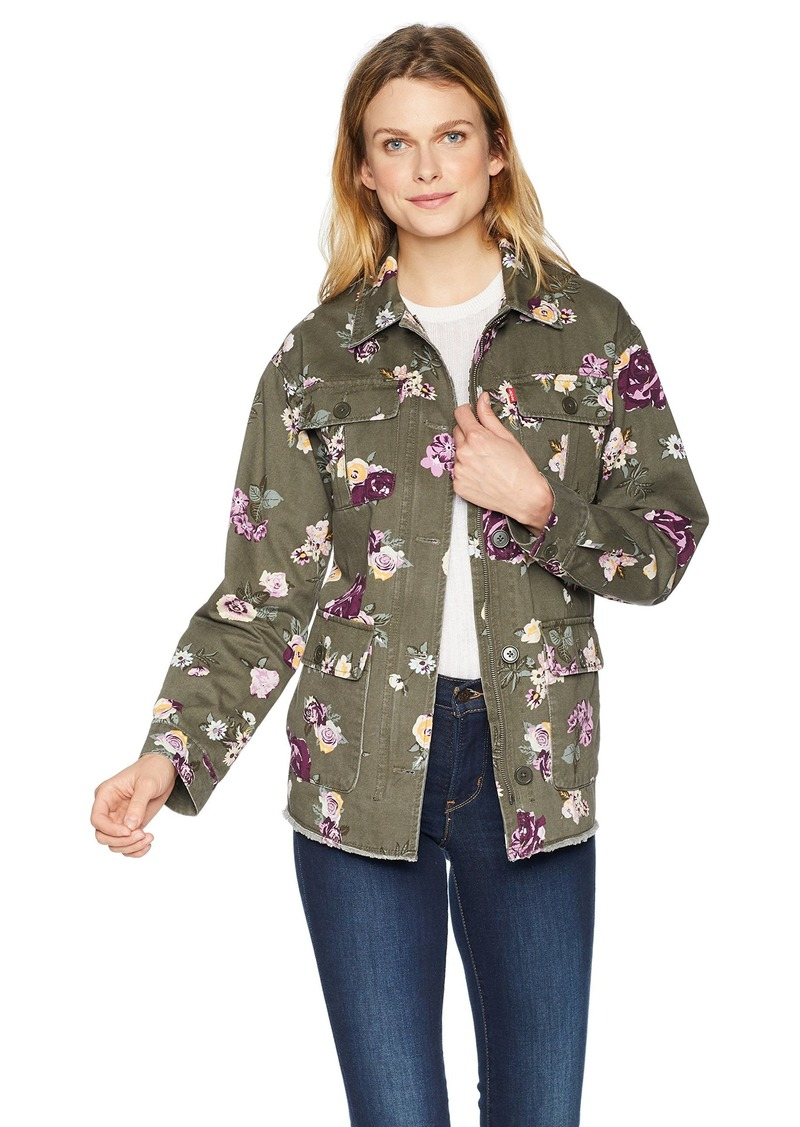 Levi's Women's Slub  Printed Cotton Two Pocket Shirt Jacket XL