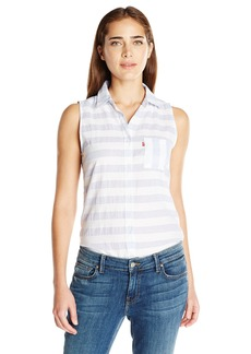 Levi's Women's Striped Sleeveless Shirt