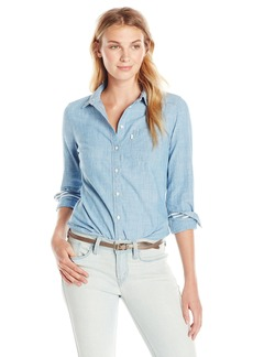Levi's Women's Tailored Classic One Pocket Shirt  (100% Cotton) Small