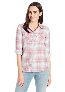 Levi's Women's Tailored Two Pocket Plaid Western Shirt