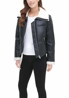 Levi's Women's The Breanna Smooth Lamb Faux Leather Puffer Jacket