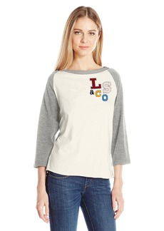 Levi's Women's the Graphic Raglan Top LS&Co Marshmallow