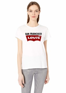 Levi's Women's The Perfect Tee Shirt 2.0 SF City Tee White
