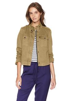 Levi's Women's Two-Pocket Cropped Cotton Trucker Jacket tan XS