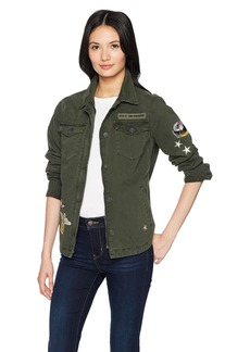 Levi's Women's Two-Pocket Shirt Jacket with Patches  Extra Small