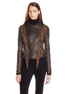Levi's Women's Vintage Leather Fringe Jacket