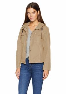 Levi's Women's Washed Cotton Midlength Swing Coat Jacket