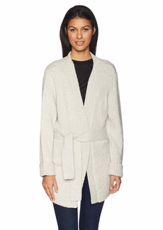 Levi's Women's Wide Belted Cardi Sweater ICY Grey Heather
