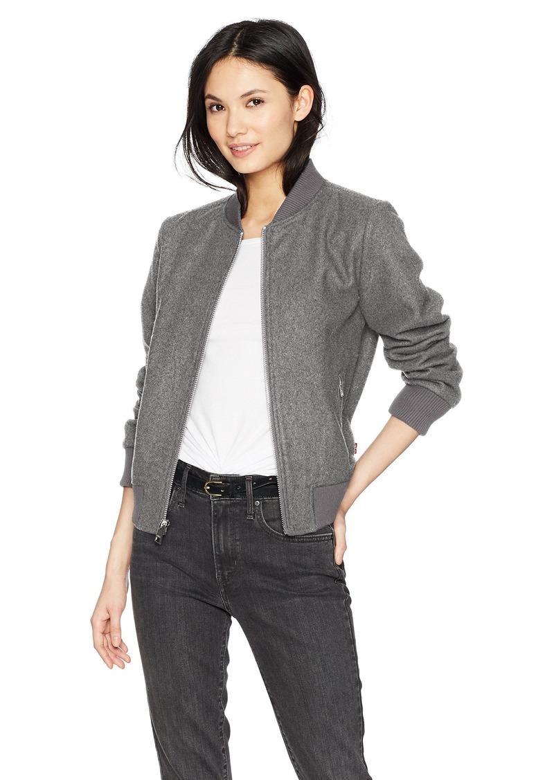 041d50040f96 Levi's Levi's Women's Wool Blend Rib Knit Bomber Jacket Now $81.42