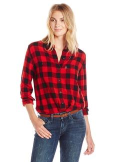 Levi's Women's Workwear Boyfriend Shirt Wood avens Caviar (100% Cotton)