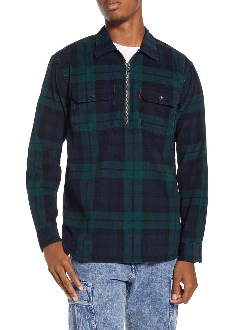 Levi's® x Justin Timberlake Half Zip Corduroy Popover Shirt