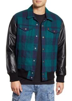 Levi's® x Justin Timberlake Varsity Leather & Wool Trucker Jacket