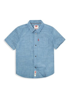 Levi's Little Boy's Short Sleeve Chambray Button Up Shirt