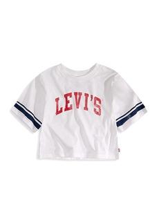 Levi's Little Girl's & Girl's Graphic Logo Crop Top