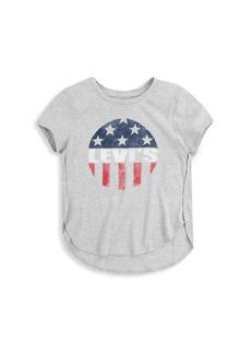 Levi's Little Girl's Americana Tulip Hem T-Shirt