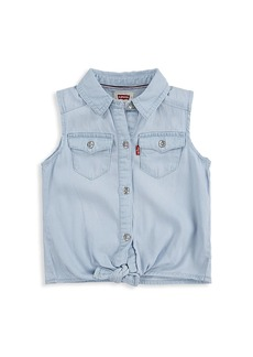Levi's Little Girl's Chambray Tie-Front Top