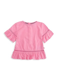 Levi's Little Girl's Short Sleeve Ruffle Top