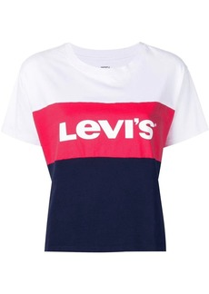 Levi's logo colour-block T-shirt