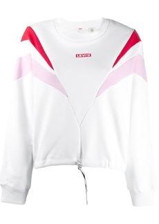 Levi's logo panelled sweatshirt