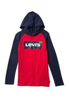 Levi's Long Sleeve Hoodied Raglan Top (Big Boys)
