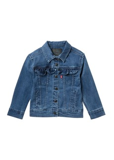 Levi's Longline Ruffle Trucker Jacket (Toddler Girls)