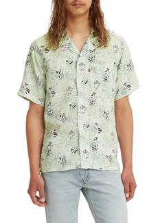 Men's Levi's Cubano Floral Print Short Sleeve Button-Up Camp Shirt