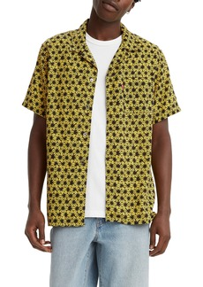 Men's Levi's Cubano Star Fruit Short Sleeve Button-Up Camp Shirt