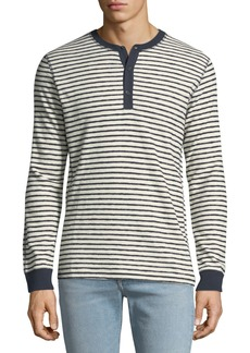 Levi's Men's Made & Crafted Striped Henley Shirt