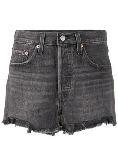 Levi's mid rise denim shorts