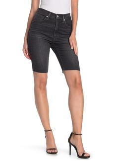 Levi's Mile High Frayed Hem Biker Shorts