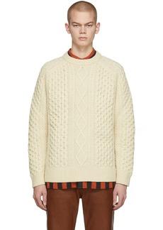 Levi's Off-White Wool Aran Sweater