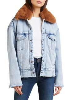 Levi's Oversized Denim Trucker Jacket with Faux-Fur Collar