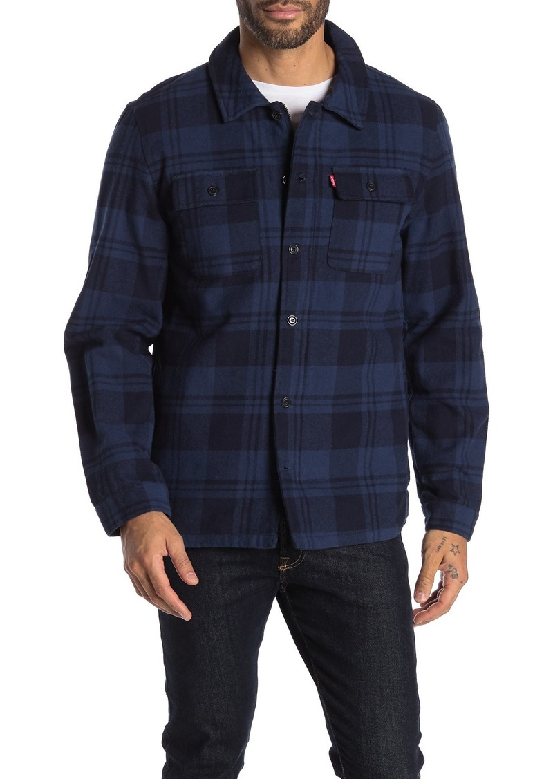 Levi's Plaid Flannel Zip Shirt Jacket