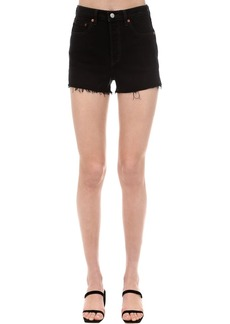 Levi's Rib Cage Raw Hem Stretch Denim Shorts