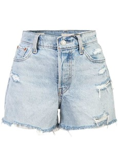 Levi's ripped denim shorts