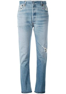 Levi's ripped trim jeans