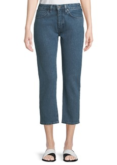 Levi's Slim Cropped Straight-Leg 2-Tone Jeans