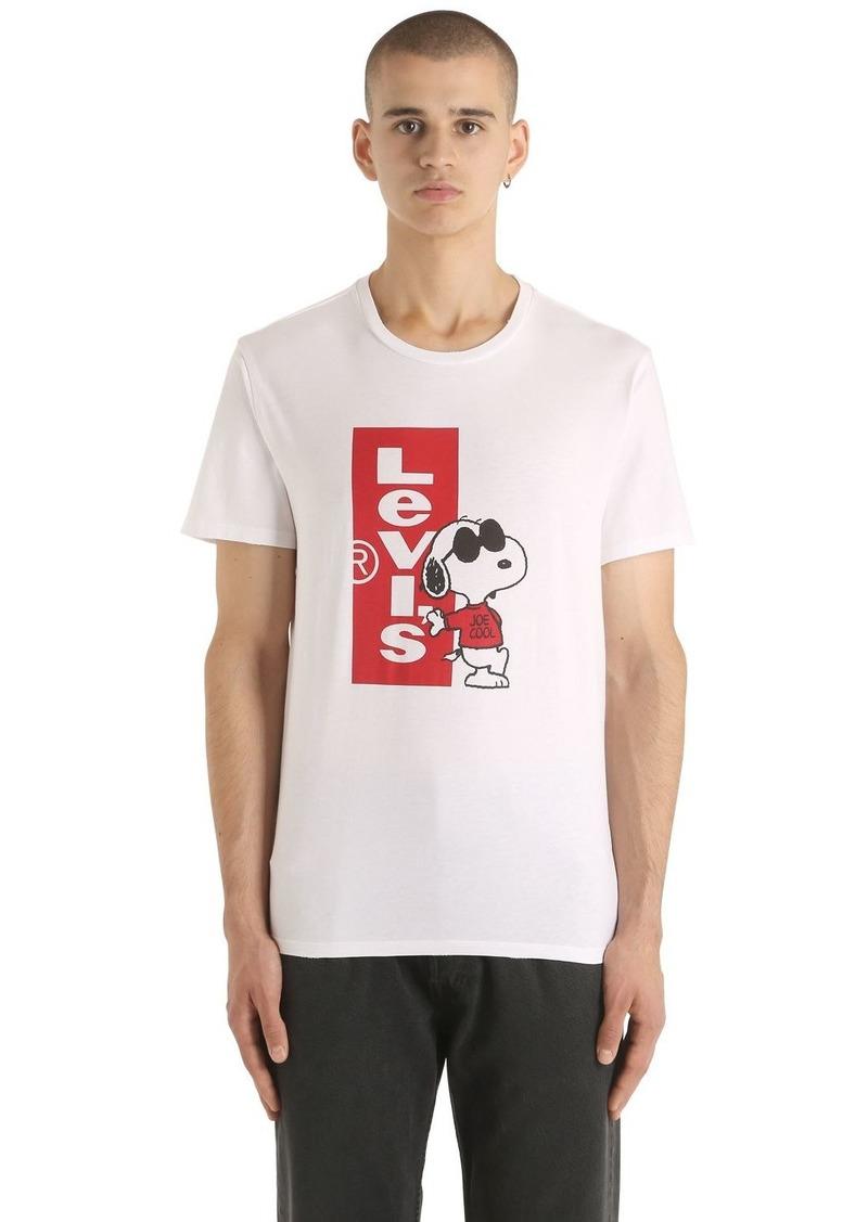 b65c3ba78 Levi's Snoopy Logo Print Cotton Jersey T-shirt | T Shirts