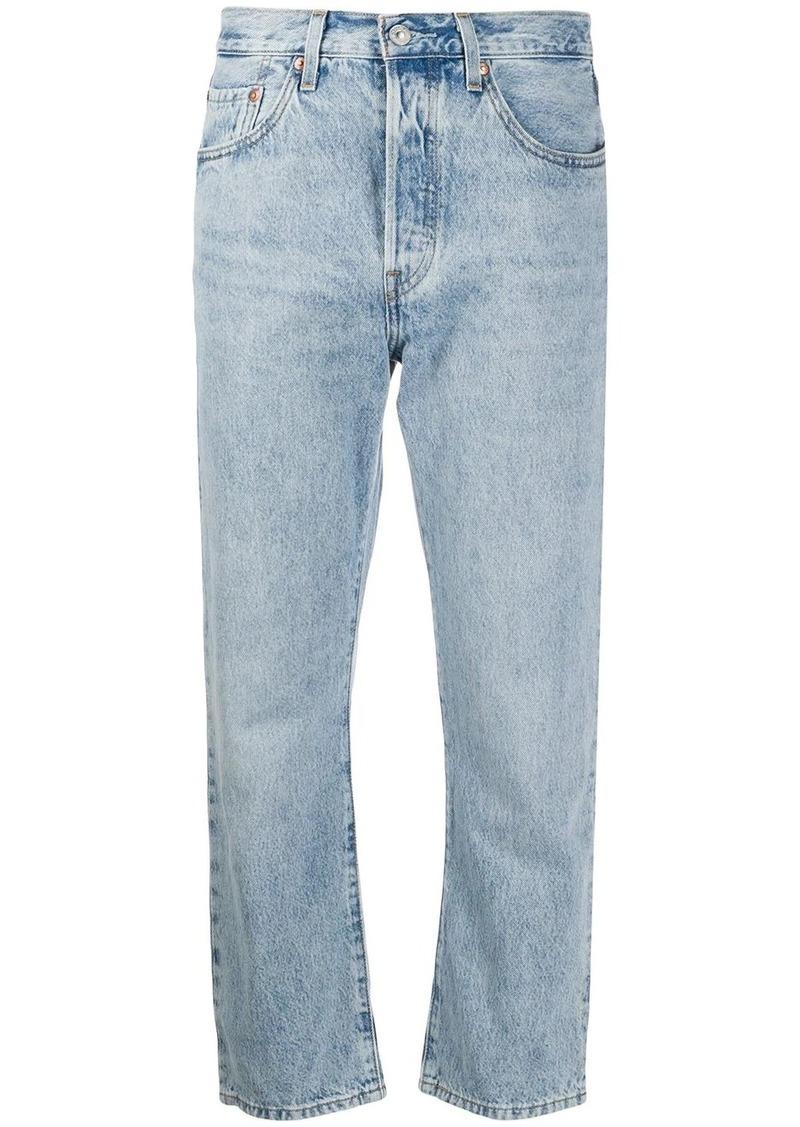 Levi's stonewashed cropped jeans