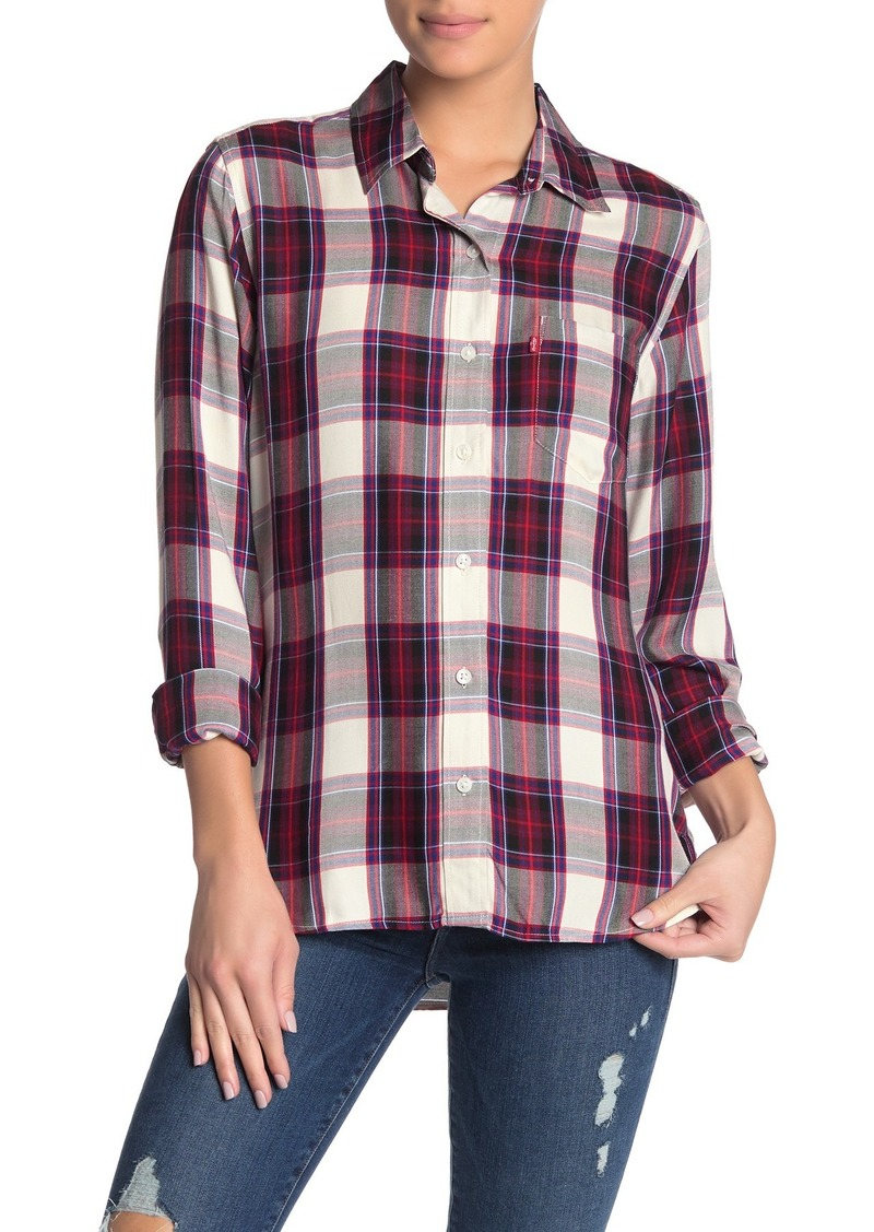 Levi's Ultimate Boyfriend Parsley Button Down Shirt