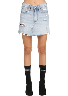 Levi's Vintage Destroyed Denim Mini Skirt