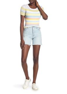 Levi's Wedgie Frayed Hem Denim Shorts