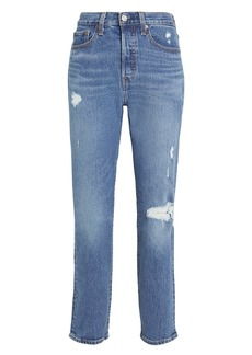 Levi's Wedgie Icon Distressed Jeans