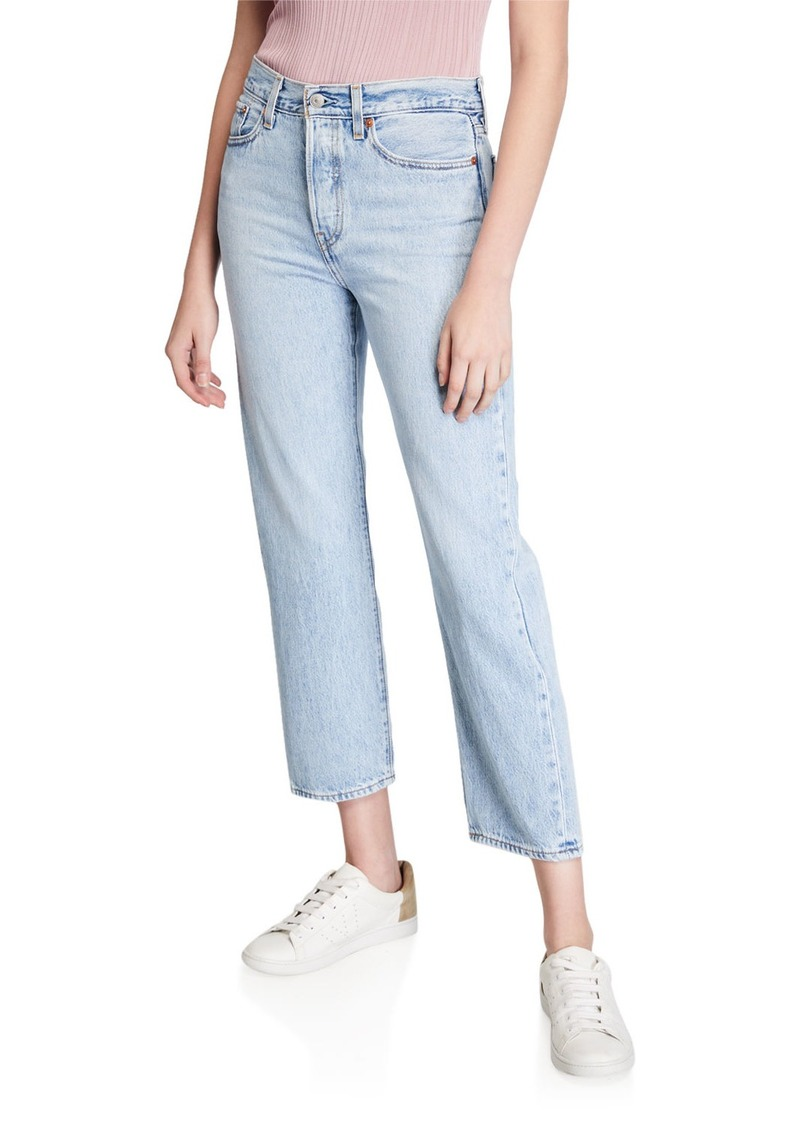 Levi's Wedgie Straight-Leg Cropped Jeans