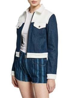 Levi's Western Slim Colorblock Denim Trucker Jacket