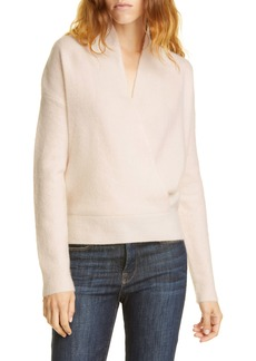 Lewit Wrap Front Cashmere Blend Sweater
