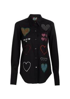 Libertine Hearts Embellished Classic Shirt