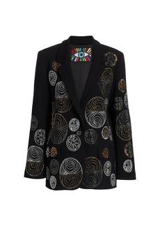 Libertine Noveau Embellished Stretch-Wool Blazer Jacket