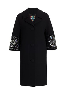 Libertine Stars Collide Patch Pocket Stretch-Wool Coat